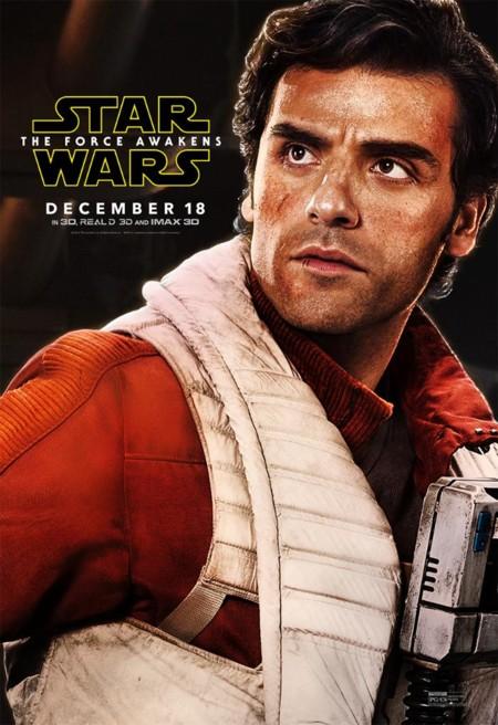 Cartel de Poe Dameron (Oscar Isaac)