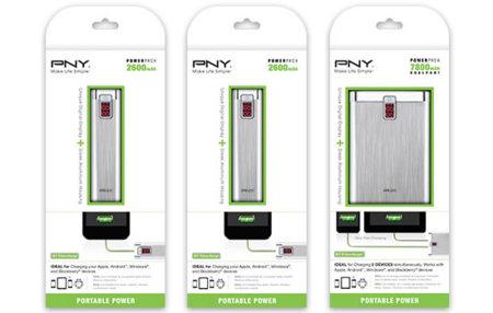 PNY PowerPack, tres opciones para salvar el día a tus gadgets