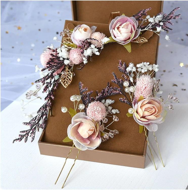 Set de horquillas florales para recogido