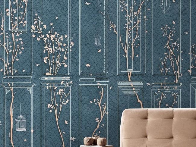 Los revestimientos decorativos tiran del diseño gráfico, de la cultura asiática y los queremos en casa ¡Ya!