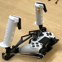 Con una impresora 3D, el mando de la PS4 o Xbox se convierte en un joystick dual para simuladores de vuelo por 2 euros