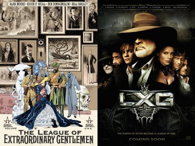 El cómic y la película de La Liga de los Hombres Extraordinarios