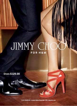Jimmy Choo para H&M campaña