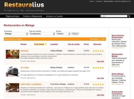 Restauralius, directorio de restaurantes de toda España
