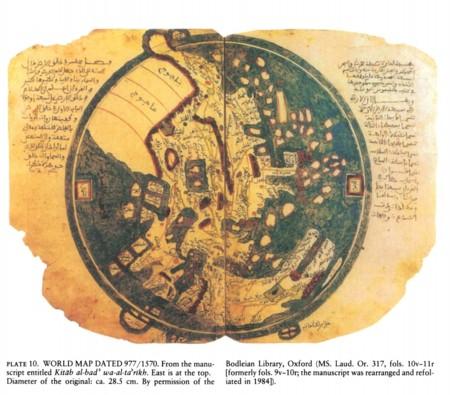 Mapamundi árabe 977