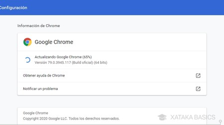 Actualizando Chrome