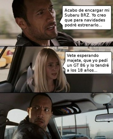 The Rock compra un Subaru BRZ