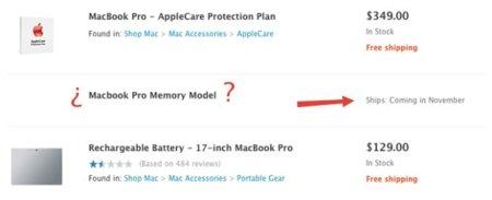 Aparecen rastros indicando una actualización menor de los MacBook Pro en la web de la Apple Store