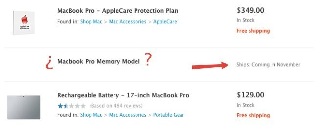 apple store web memory model artículo macbook pro