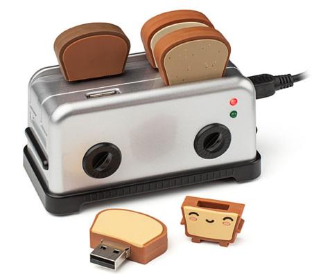 Una tostadora de memorias USB