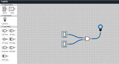 Logicly, simulador online de circuitos basado en puertas lógicas