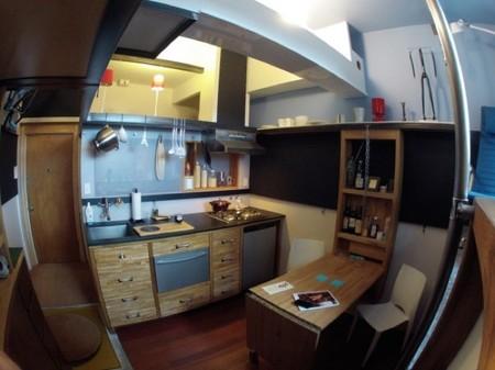 Casas poco convencionales: un micro apartamento en Seattle de 17 metros cuadrados