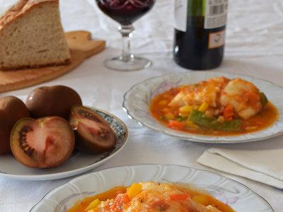 Bacalao con tomate Kumato® a la huertana