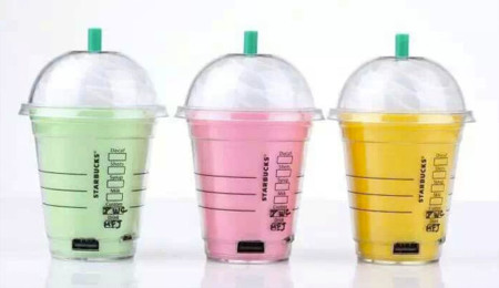 Batería del frapuccino de Starbucks