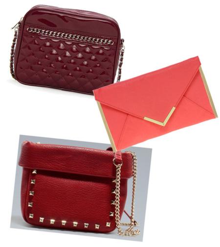 rojo bolso navidad