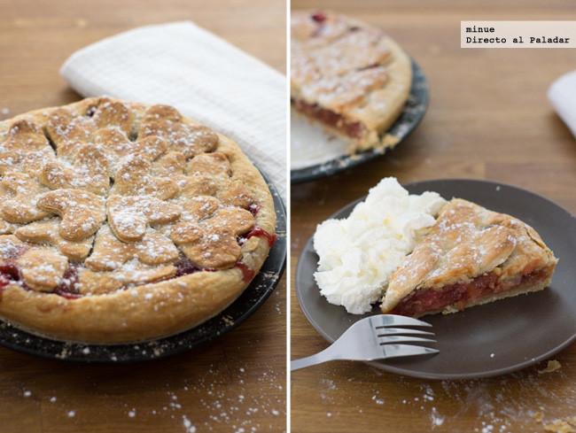 Tarta de fresa y pera. Receta romántica para compartir