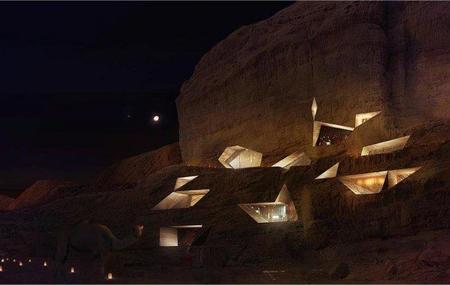Wadi Rum Resort, proyecto de resort de lujo escarpado en la montaña