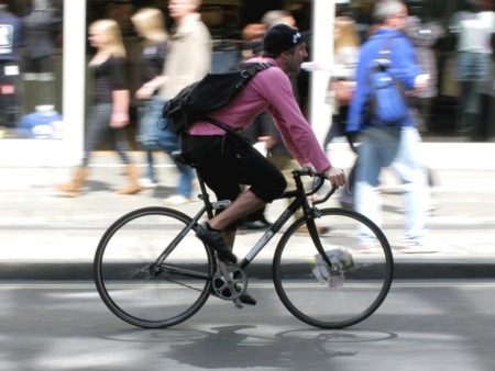 Mensajero ciclista Londres