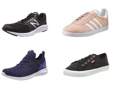 Chollos en tallas sueltas de zapatillas New Balance, Adidas, Skechers y Levi's  en Amazon