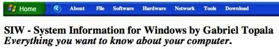 SIW, System Information for Windows