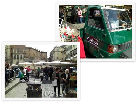 Mercado Campo dei Fiori. Motocarro