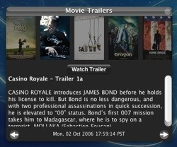Movie Trailers: Widget para conocer los últimos trailers en la web de Apple
