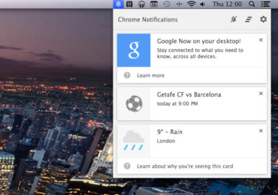 Google Now, ya en Chrome Canary