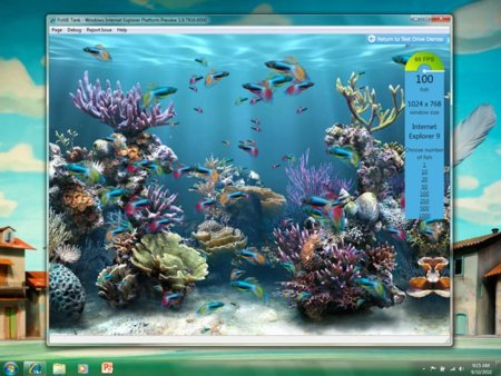 microsoft internet explorer 9 beta test peces benchmark prueba
