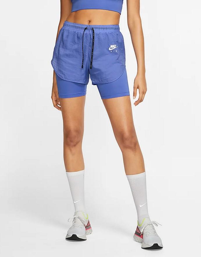 Pantalón corto de running 2 en 1 - Mujer Nike Air