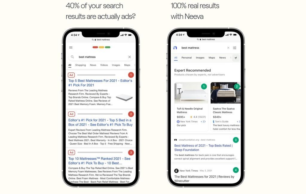 Si pagas por el producto, no eres el producto: Neeva es el buscador sin publicidad que cuesta 5 dólares al mes