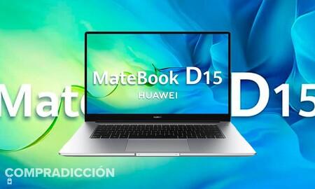 Este ligero Huawei MateBook D15 es una ganga: llévatelo por sólo 449 euros en las ofertas de septiembre en Amazon