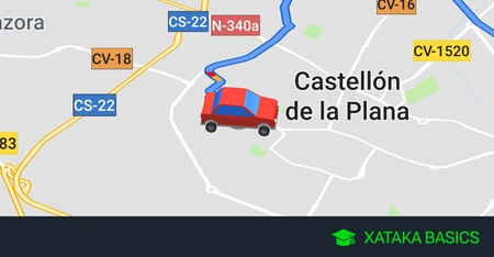 Cómo cambiar por un coche el icono de la flecha de Google Maps