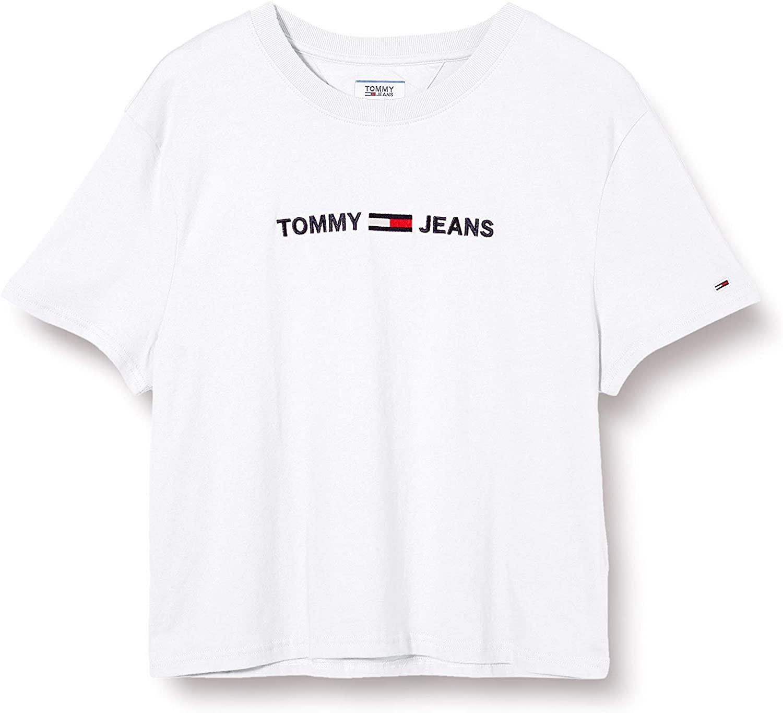 Tommy Hilfiger Tjw Modern Linear Logo tee Camiseta de Manga Corta para Mujer
