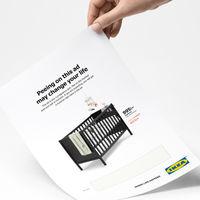 El folleto que también es test de embarazo: Ikea te hace descuento en una cuna si orinas en este anuncio y resulta que esperas un bebé