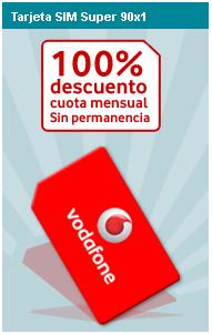 Vodafone promociona la tarifa Súper 90x1 sin cuota durante 2009
