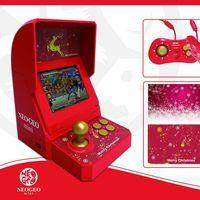 NEO GEO mini Christmas, una mini-recreativa de tirada limitada con motivos navideños y 48 clasicazos de SNK