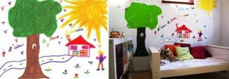 Vinilo decorativo a partir del dibujo de tu hijo