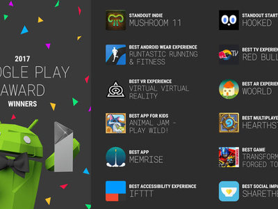 Google Play Awards 2017: estas son las aplicaciones ganadoras