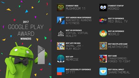 Google Play Awards 2017: estas son las aplicaciones ganadoras