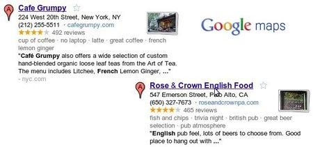 Google Maps comienza a mostrar descripciones de los negocios