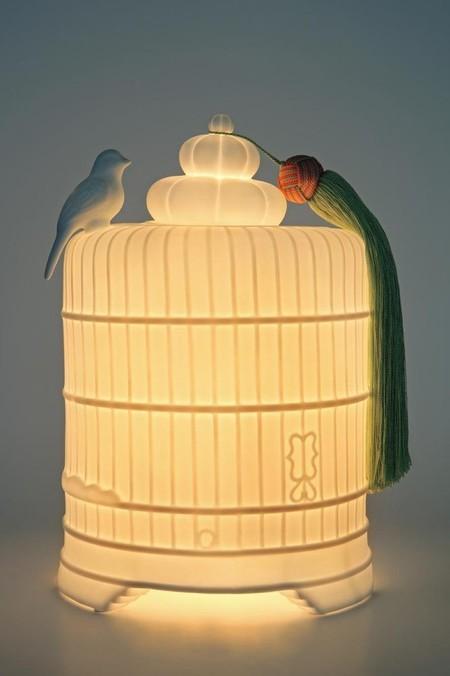Lámpara jaula