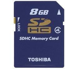 Tarjeta SDHC de 8 GB de Toshiba
