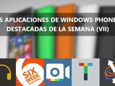 5 apps de Windows Phone destacadas de la semana (VII): 2BeDone, Reddit8, 6 Week Training y más.