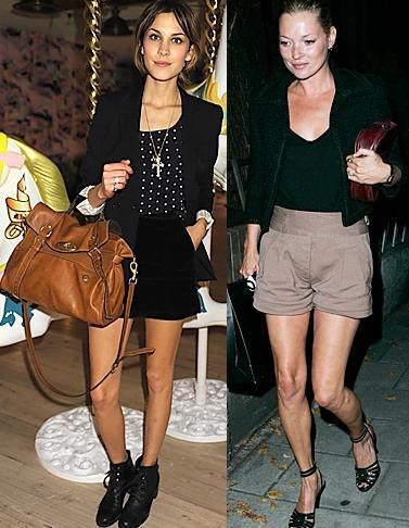 Las celebrities hacen de los shorts la clave del entretiempo