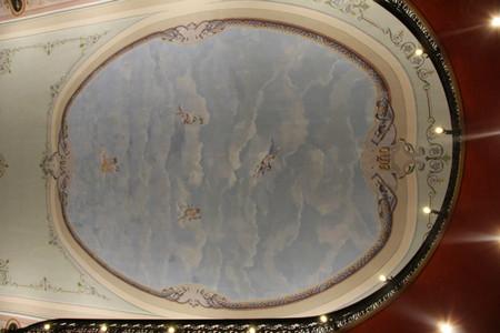 techo y sus pinturas en el teatro de Almendralejo