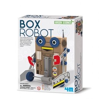 Con Green science robot inteligente, ¡Convertir cajas vacías en ingeniería ecológica inteligente hará que los peques comprendan el significado del reciclaje! El resultado de la construcción será un robot capaz de andar, saltar, pisar fuerte e irse corriendo. Transforma la caja en un robot andante!