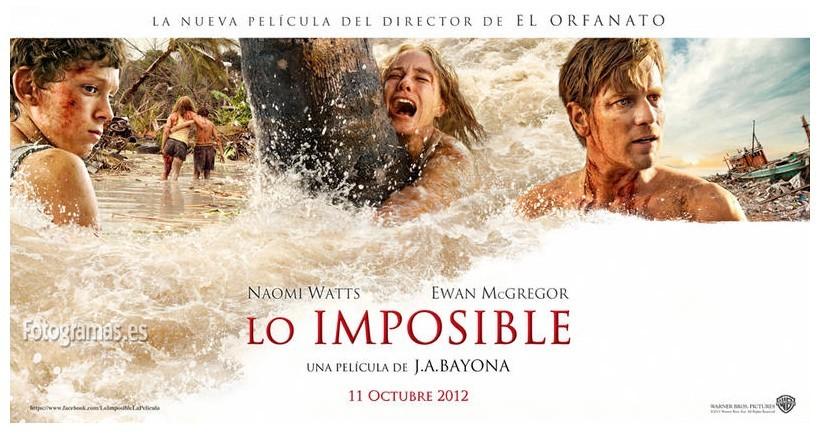 'Lo imposible', carteles de la película de J.A. Bayona