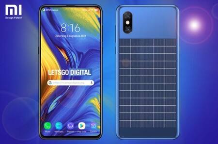 Xiaomi ha patentado un móvil que se recarga con el sol