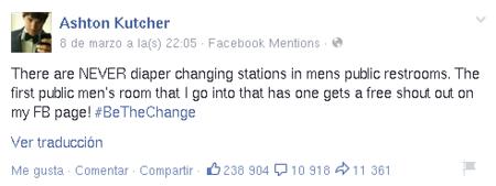 Ashton Kutcher Cambiadores Panales
