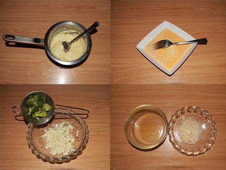 Paso a paso suflé coliflor y brócoli con queso sin lactosa